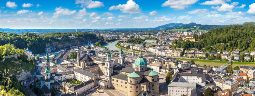 View of the cityscape of Salzburg