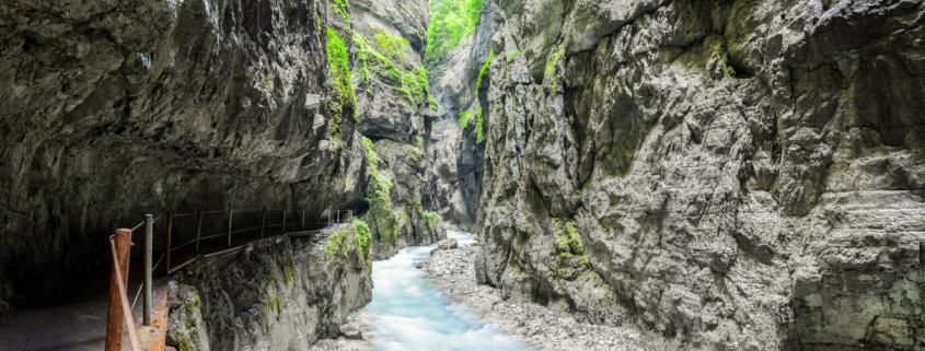 view inside the Partnach Gorge
