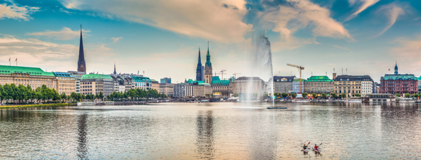 view of the Alster in Hamburg
