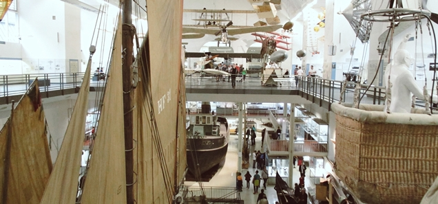 aircraft and boats displayed at the Deutsches Museum