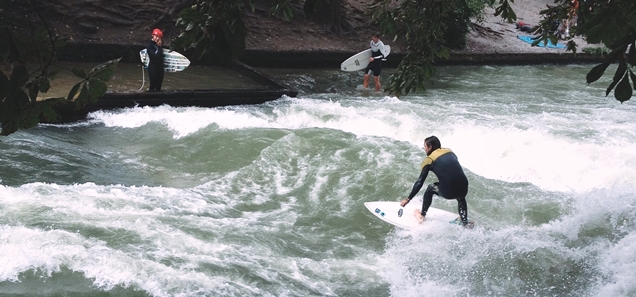 surfing the Eisbach wave