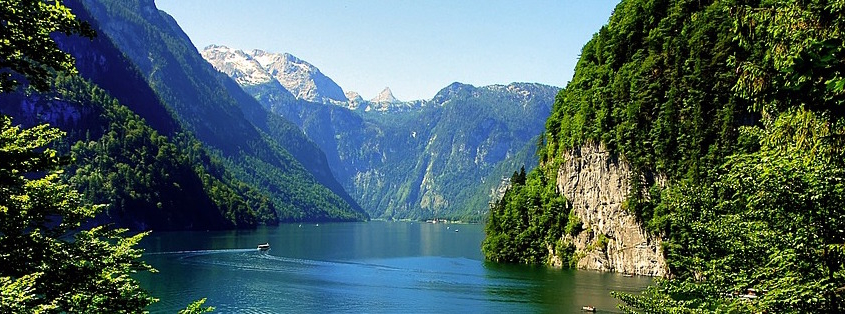 """view of the lake """"Königssee"""""""