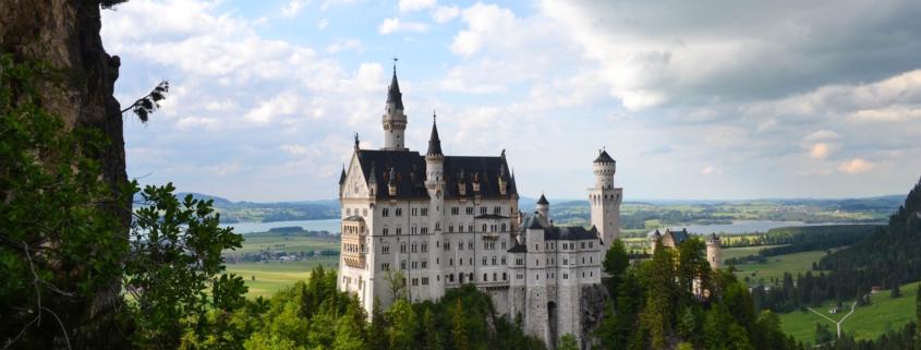 view of the castle Neuschwanstein